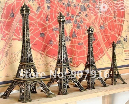 high 13cm metal craft arts 3D Eiffel Tower model French france souvenir paris home decoration gift desk office