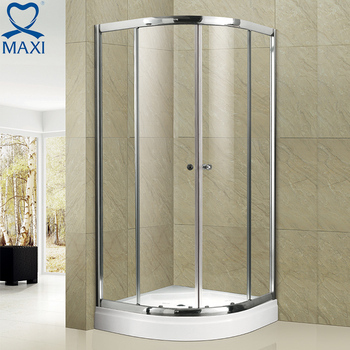 Online Shipping Bathroom Tempered Glass Enclosure Middle Sliding Acrylic Shower  Door
