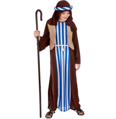 Kids Shepherd Costume Nativity Play Fancy Dress Outfit Boys Girls Christmas Xmas