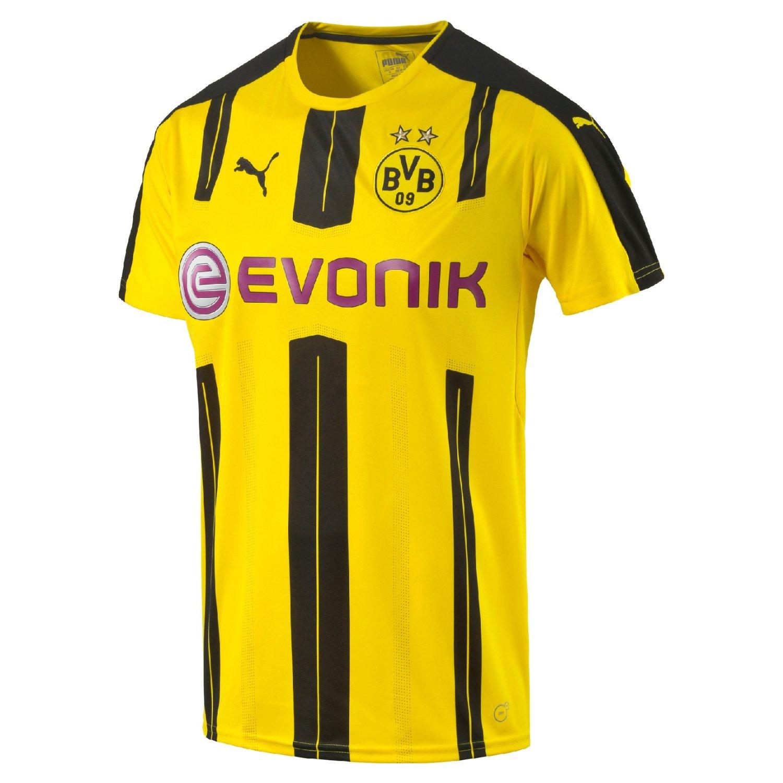 7ddc96a106eb Get Quotations · 2016-2017 Borussia Dortmund Puma Home Football Shirt