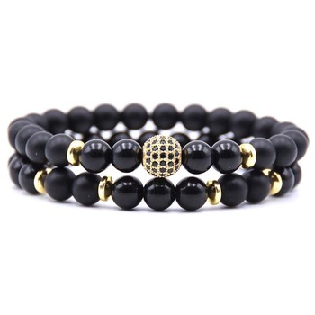 AP21558 Wholesale custom colored tigereye bead bracelet set jewelry for men dropshipping