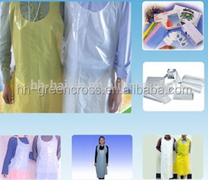 Hdpe plastic disposable pe apron for household using in kitchen disposable apron