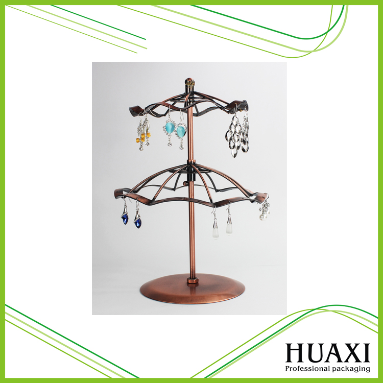 Huaxin Earrings Jewellery Metal Double Displays in Trade Fair