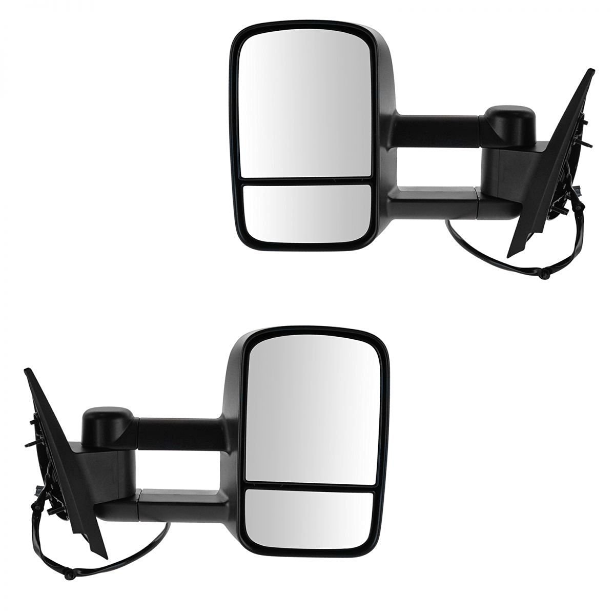 Towing Mirrors For 2007-2013 Chevy/GMC Silverado/Sierra Power Heated Side Mirror Pair (2008 2009 2010 2011 2012 models 07 New-Body Style)