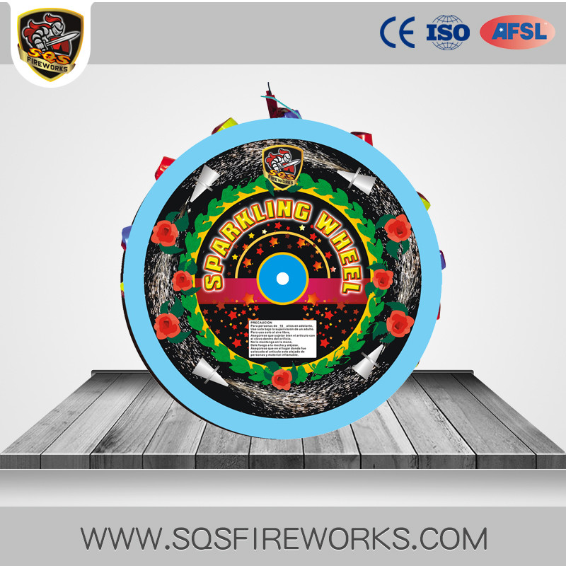 "Chinese hot sale 13"" sparkling wheel fireworks"