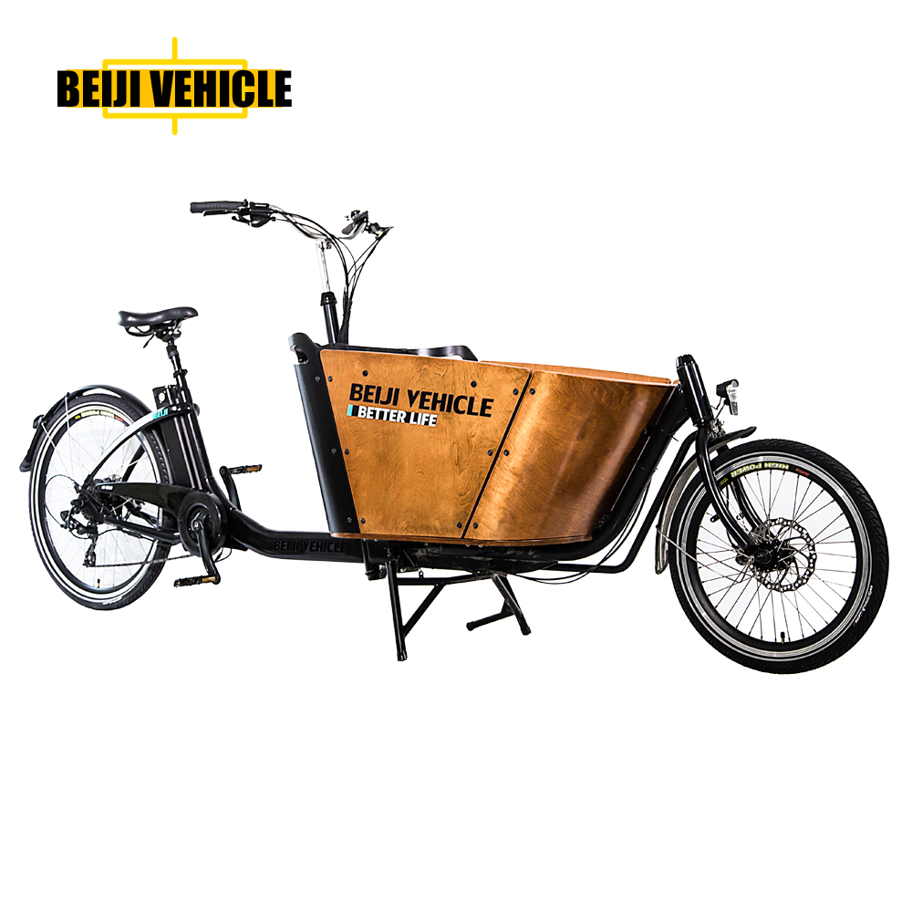 2 wheel Beiji new model electric two front wheels cargo bike/cargo bicycle tricycle