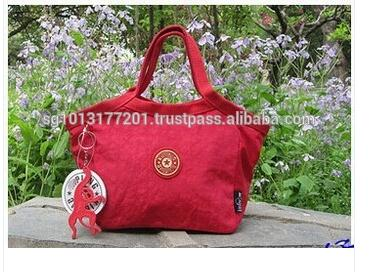Hot sale high quality nylon women wristlet small lady tote bag