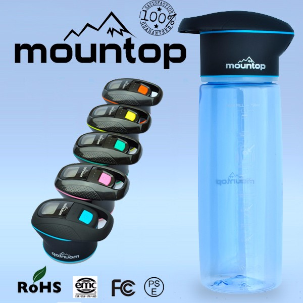 High quality bike water bottle with USB charging led light