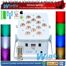 battery operated mini disco party lighting slim par/Battery Power Wireless LED Slim Par Cans Flat Stage Lightings