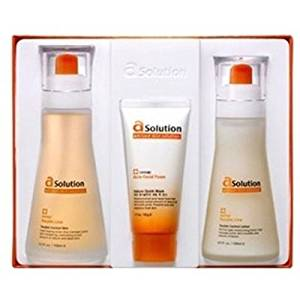 Real Skin _ A solution, Junior Trouble 2-piece set.(Trouble control Skin + Trouble control lotion...