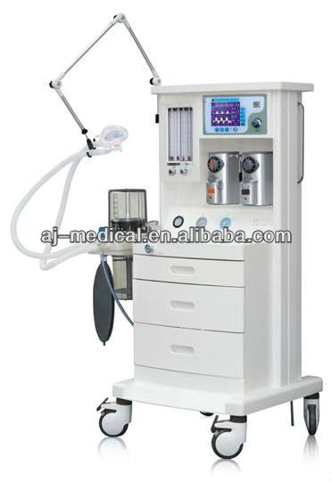 Anesthesia Machine with Ventilator / anesthesiology machine (2 Vaporizers,2 Gas) AJ-2103