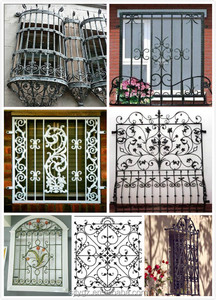 Modern wrought iron window grill design