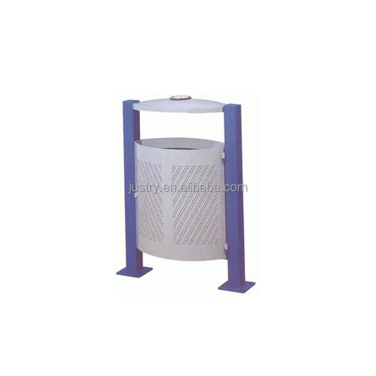 outdoor metal ash bin/rubbish bin/waste bin GP-042A