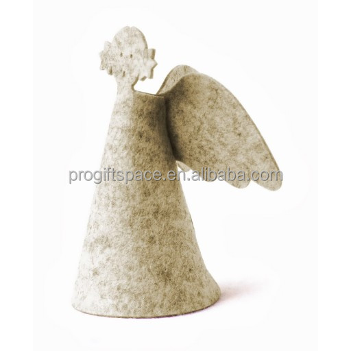 2017 hot indoor new cheap wholesale fabric ornament handmade animated felt decorations Christmas standing angel made in China