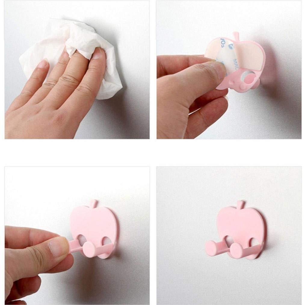SHJNHAN Multifunction Finishing Plug Holder Sticky Hooks (Pink)