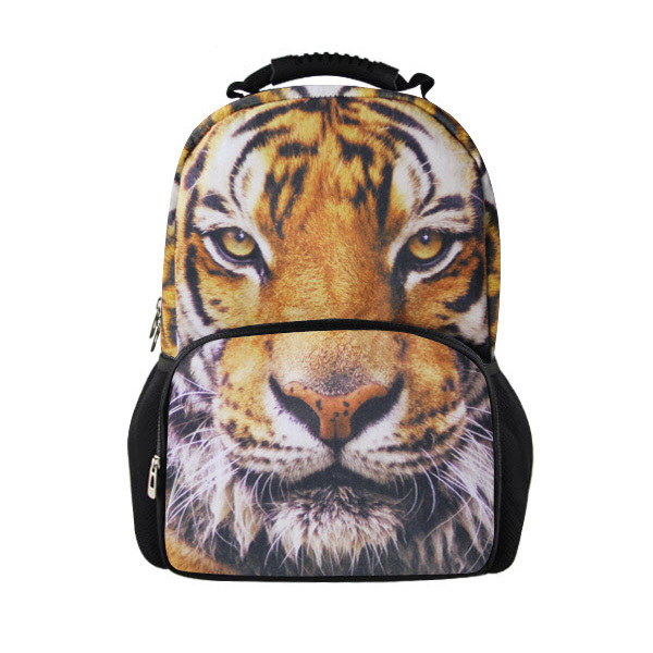 New Novelty Products,3D Tiger Travel Backpack,Tiger Head Rucksack