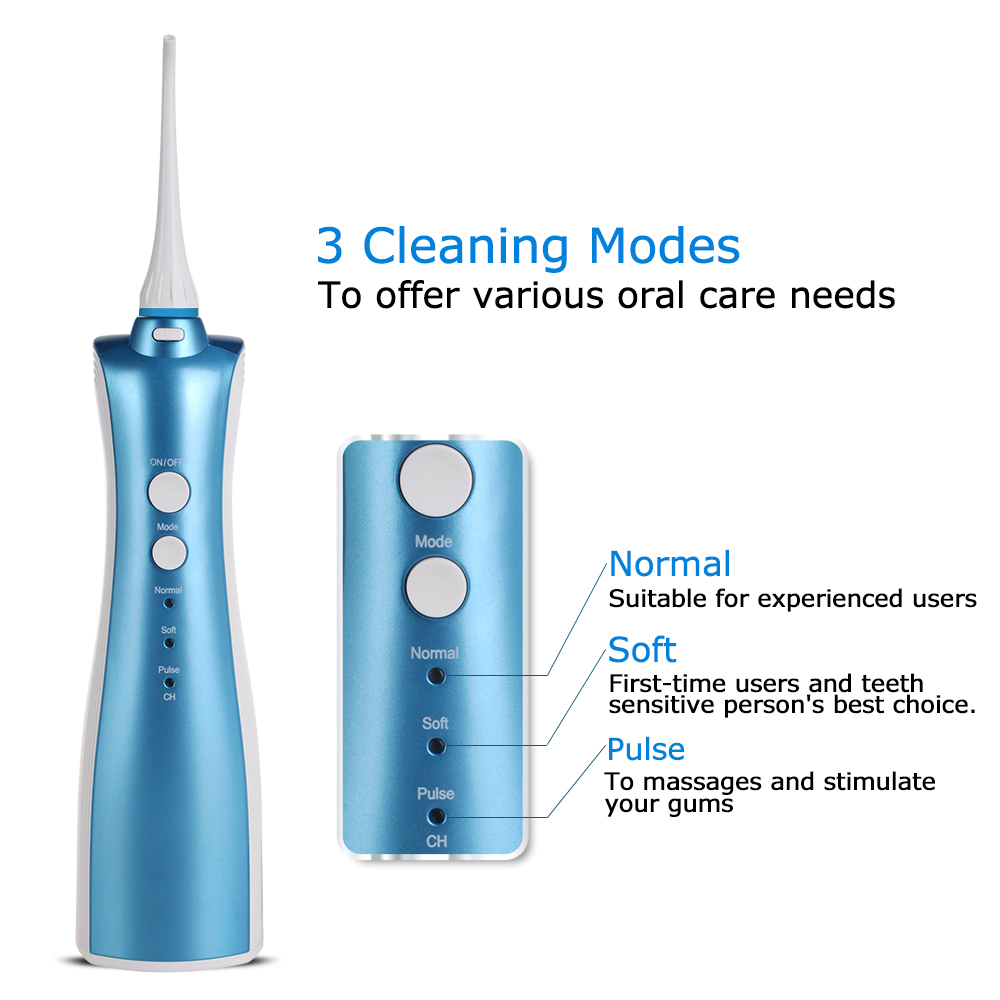 Dental Care oral irrigatore Professionale Acqua Flosser con Staccabile Serbatoio di Acqua F5015 pik