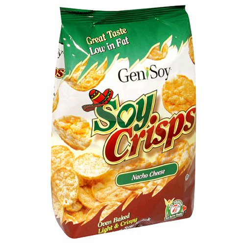 Genisoy Soy Crisps, Nacho Cheese, 3.5-Ounce Bags (Pack of 12)