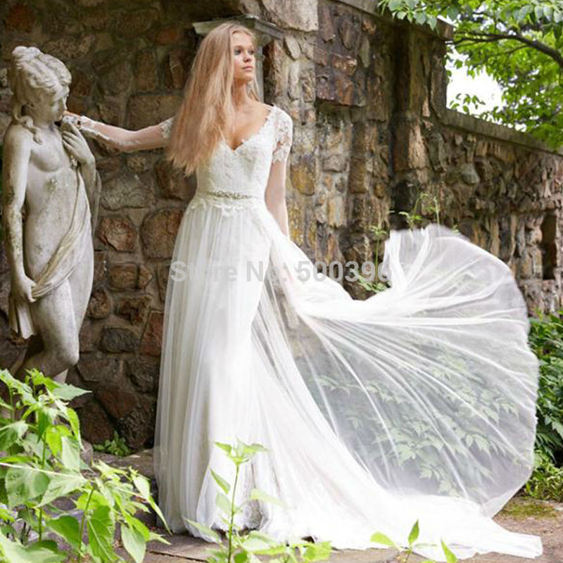 Elegant Simple Long Sleeve Wedding Dress: Simple A Line Long Sleeve Wedding Dress Elegant 2016