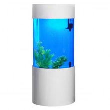 Hot sale floor unique large cylinder acrylic fish aquarium