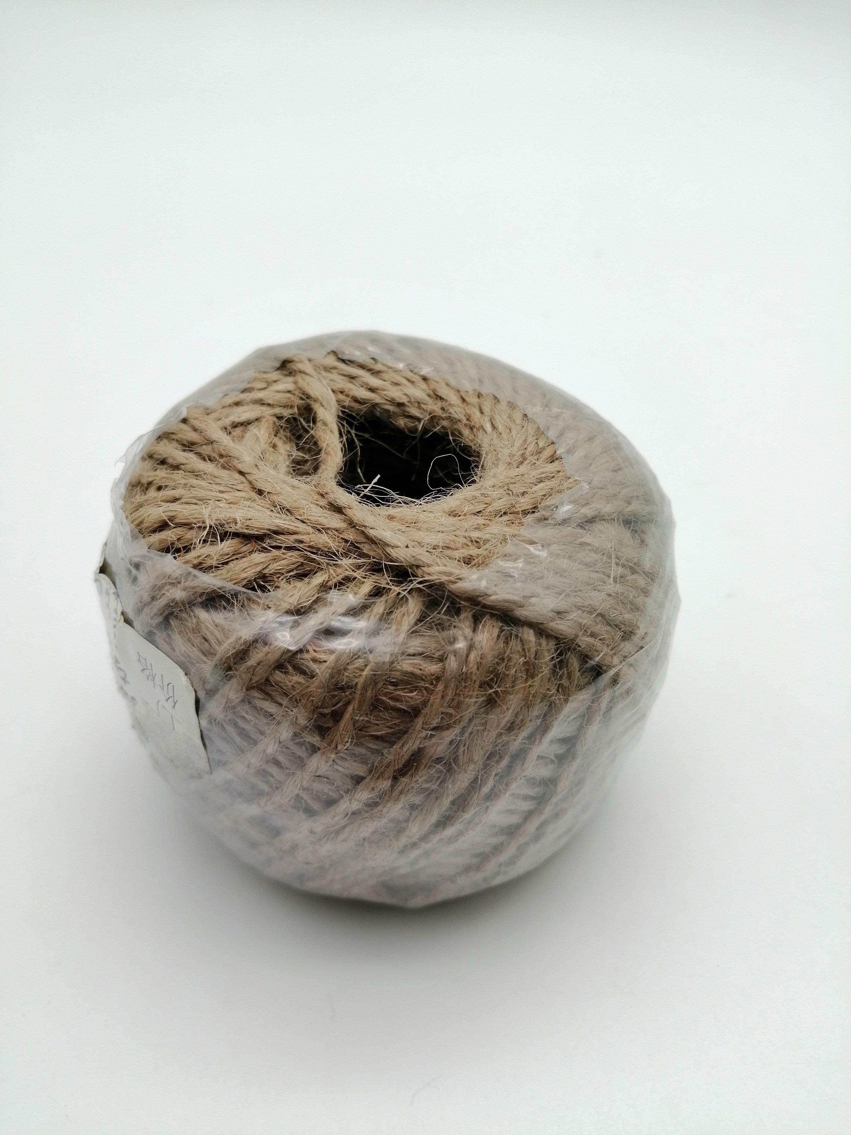 natural twine ball, jute twine twisted jute yarn