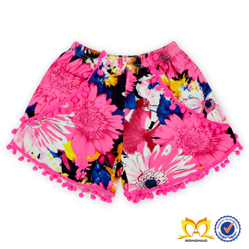 9cfc0856ad9c Hot Sale Baby Pom Pom Shorts With Trim Little Girls Summer Clothes Spandex  Shorts Women and