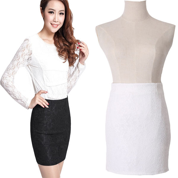3cf04bc3b Get Quotations · Saia Feminina OL Pencil Skirt 2015 New Sexy Autumn Summer  Style Lace Flower Women Bodycon Skirts