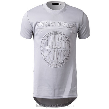 a4cb478957 Custom Embossed Printing Muscle Fit Longline T Shirt For Men - Buy ...