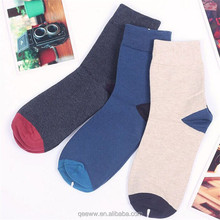 hot selling unisex combed cotton contrast heel & toe casual formal socks