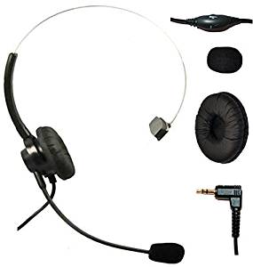 Headset Headphones with Volume+mute Control+standard 2.5mm Plug Jack for Cisco SPA Series Spa303 Spa504g and Other, Polycom Soundpoint Ip 320 330, Grandstream, Linksys, Panasonic, Cortelco