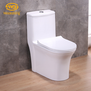 new design high quality siphonic one piece toilet 300/400 rough in s-trap floor mounted