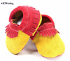 latest leather moccasins clown babay shoes