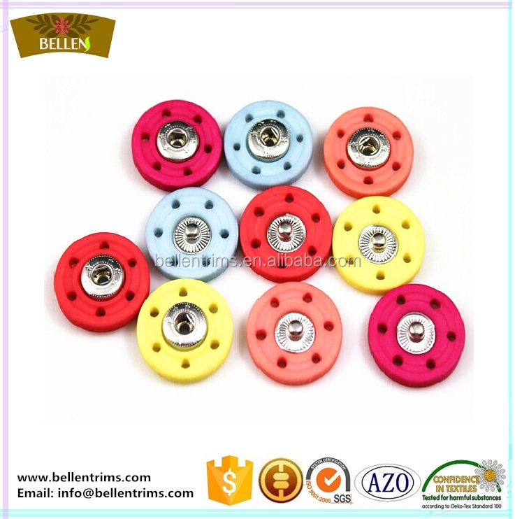 Nylon plastic sew on press button