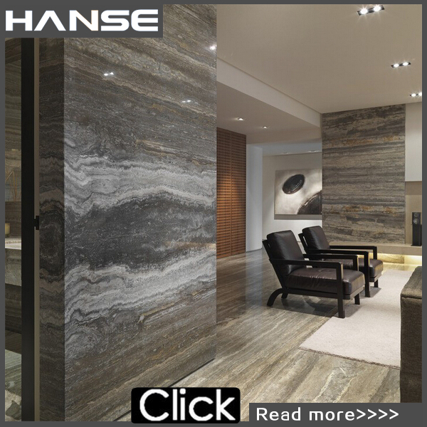 HS-T407 turkish silver grey marble travertine natural stone