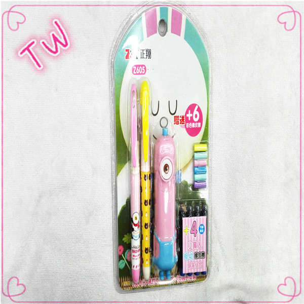 Multifunctional customizable <strong>school</strong> supplies gift cute stationery items list with price ,children eraser pen stationery set