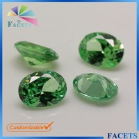 AAA High Quality 5*7mm Oval Shaped Light Green CZ Zambia Emerald Rough for Sale