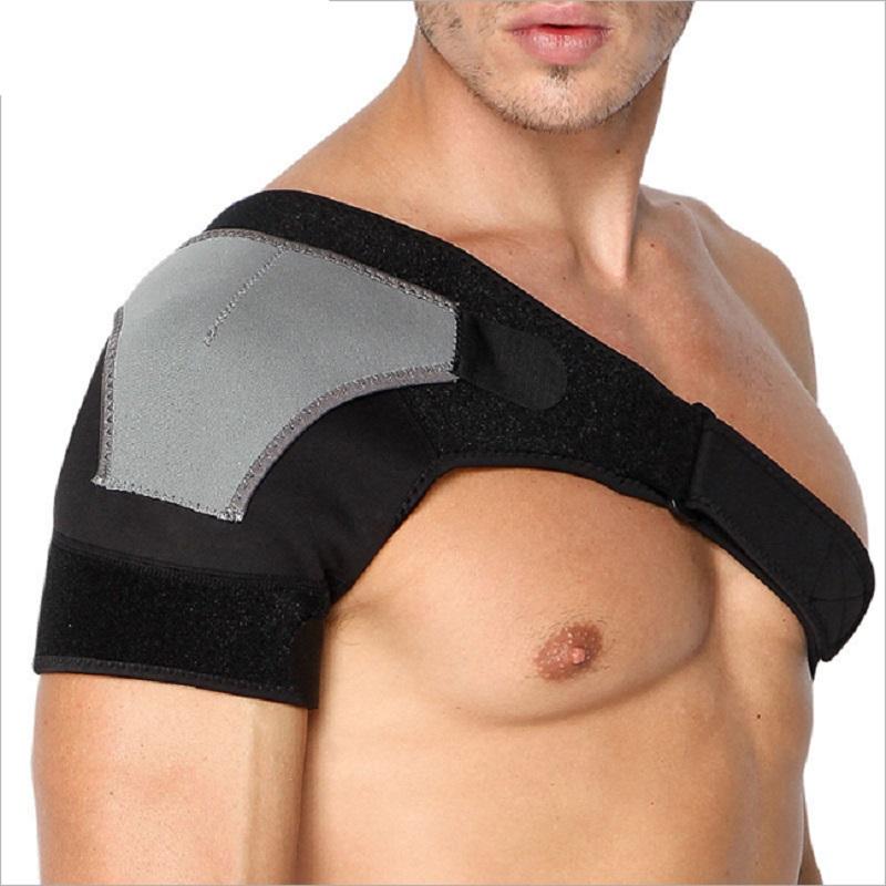 Custom Adjustable Shoulder Brace with Pressure Pad Neoprene Shoulder Support, Black&gray