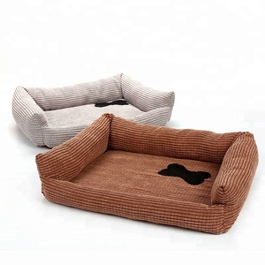 New Design 2 Colors Orthopedic Corduroy Pet Bed Bone Stick Heated Dog Cat Bed