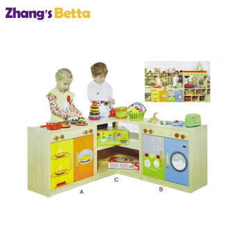 Preschool Kids Role Play Toy Sets, Wooden Toy Kitchen