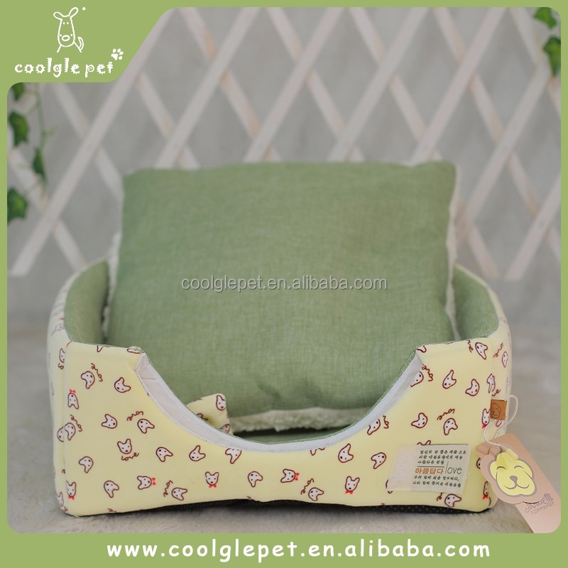 Double Use Girlish Puppy Home Dog Sleeping Sofa Cheap Pet Bedding Rabbit House