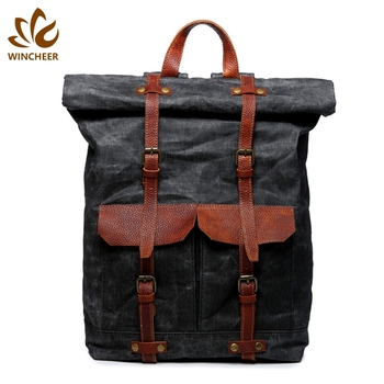 Manufacturers supply classic leisure unique canvas bag vintage men personalized backpack