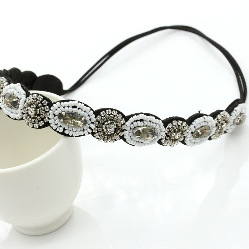 Cheap Wholesale Hair Accessories Hot Selling Black Seed Bead Headband/Hair Band BH018