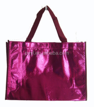 custom printed metallic gold foil laminated non woven shopper bag