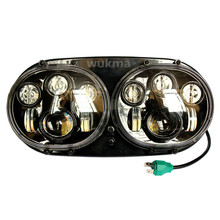 Harley Road Glide Custom double 5 3/4 inch Daymaker LED Motorcycle Headlight 90w