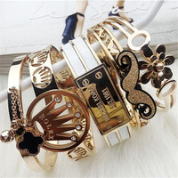 Fashion Braided Jewelry Lady's Romantic Minimal Charm Bracelet Stainless Steel Wheatear Grain Women Cuff Bangle