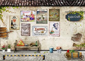 Wholesale Vintage Metal Craft For Home Decorationretro Wall Metal