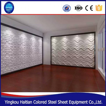 Modern Wall Art Decor PVC 3D Wall Covering Panels For House Interior  Insulated Interior Wall Panel