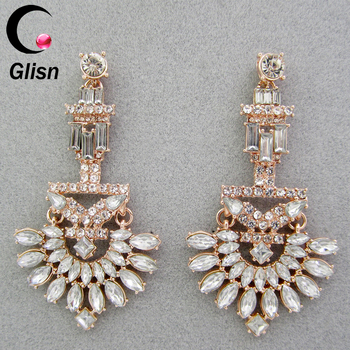 Womens clear rhinestone victorian scrolls wedding floral chandelier womens clear rhinestone victorian scrolls wedding floral chandelier dangle earrings rose gold aloadofball Image collections