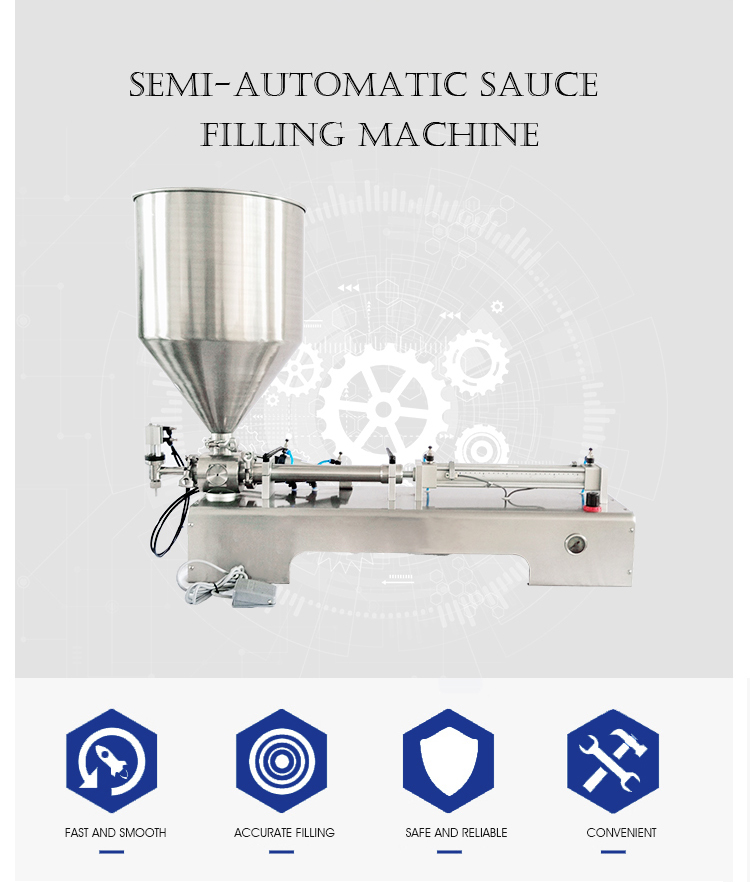 semi automatic pneumatic 50ml oil filling machine liquid