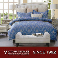 100% cotton nave bule 128x68 thread count bed comforter sheets sets all sizes